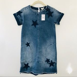 NWT Crewcuts Denim Star Dress